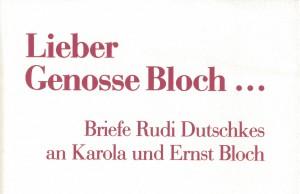 Cover des von Karola Bloch herausgegebenen Bandes